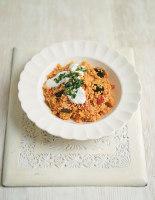 Tomato and Aubergine Pilaf