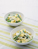 Pappardelle with Creamy Asparagus and Herbs