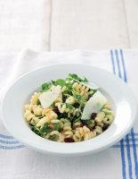 Fusilli with Watercress, Raisins and Pine Nuts