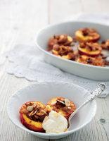 Roasted Amaretti Peaches