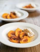 Vanilla Baked Apricots with Ricotta Cream