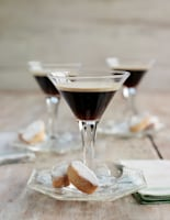 Coffee Cocktail with Almond Biscuits