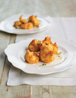 Honey Ricotta Fritters with Pistachios