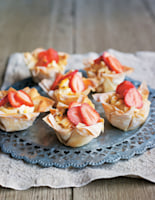Passion Fruit and Strawberry Filo Tartlets