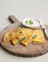 Smoked Cheese, Pepper and Spinach Quesadillas