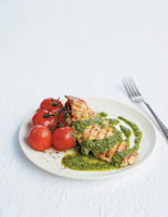 Griddled Chicken with Chilli and Rocket Pesto