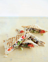Grilled Mushroom and Garlic Wraps