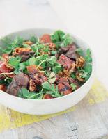 Warm Prosciutto, Chicken Liver and Walnut Salad