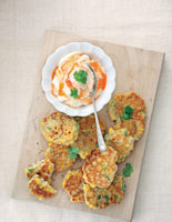 Sweetcorn Fritters with Sweet Chilli Dip