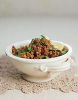 Warm Garlicky Lentil Salad