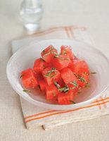 Watermelon, Rosewater and Lemon Balm Salad