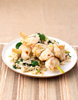 Monkfish with Coconut Rice