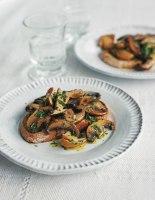 Warm Mushroom Salad Crostini