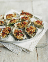 Rock Oyster Kilpatrick with Shallots