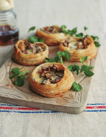 Spiced Pear and Stilton Tarts with Watercress
