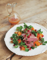Smoked Duck with Clementine and Walnut Salad