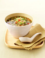 Green Bean, Miso & Noodle Soup