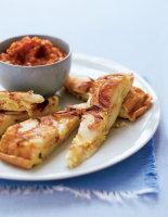 Tortilla with Romesco Sauce