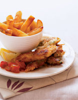 Pork Goujons with Chips