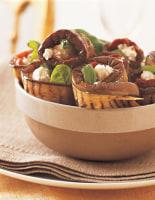 Aubergine, Tomato & Feta Rolls