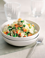 Carrot, Pea & Broad Bean Risotto