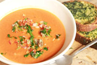 How to Make a Roasted Red Pepper Soup With Anchovy Salsa