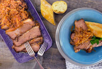 Daphne Oz's Cider-Braised Brisket with Red Cabbage and Apples