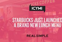Starbucks Just Launched a Brand New Lunch Menu