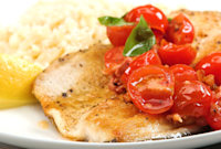 How to Make Pan-Fried Trout with Tomato-Basil Saute