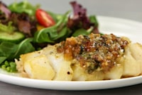 How to Make Roasted Cod with Garlic Butter