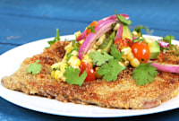 How to Make Milanesa de Res with Summer Relish