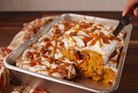 Pumpkin Spice Poke Cake Will Make You SO Excited For Fall