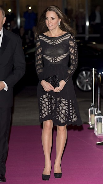 Duchess Kate sizzles in sheer Temperley London dress