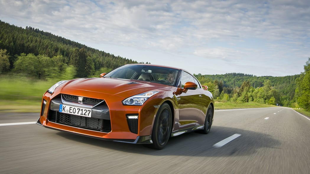 2017 Nissan GT-R driving