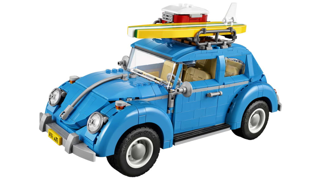 LEGO Volkswagen Beetle with surfboard
