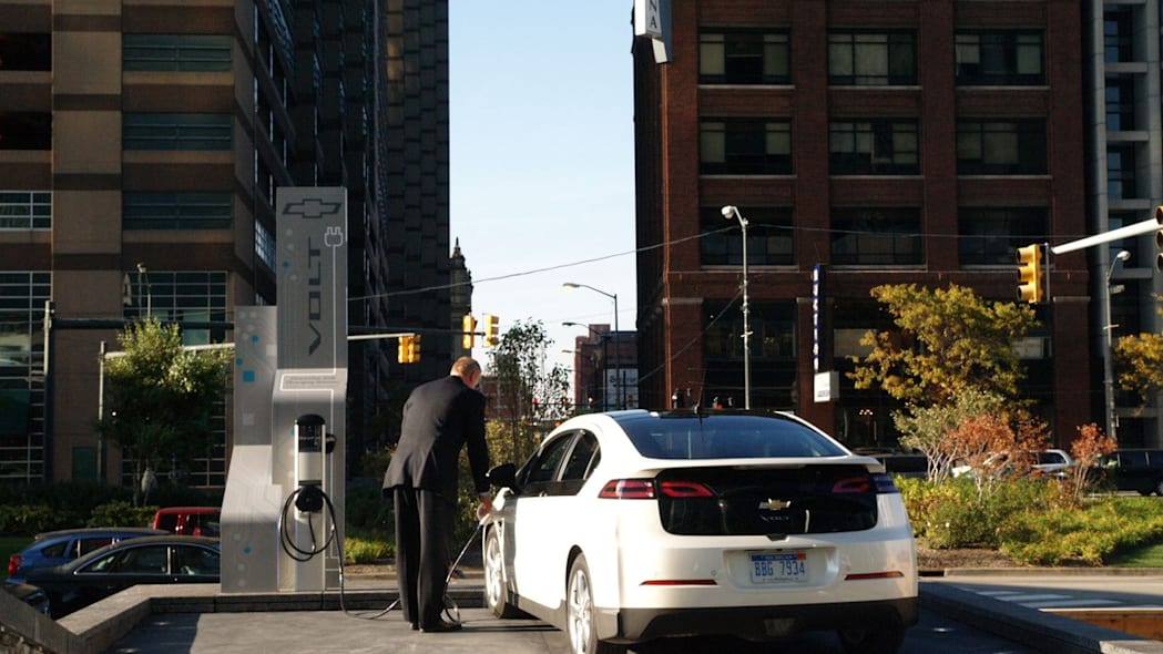 Chevy Volt Charging at the RenCen