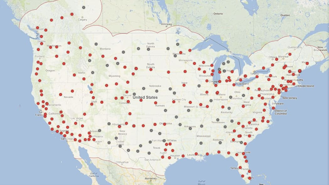 tesla supercharger station map 2015