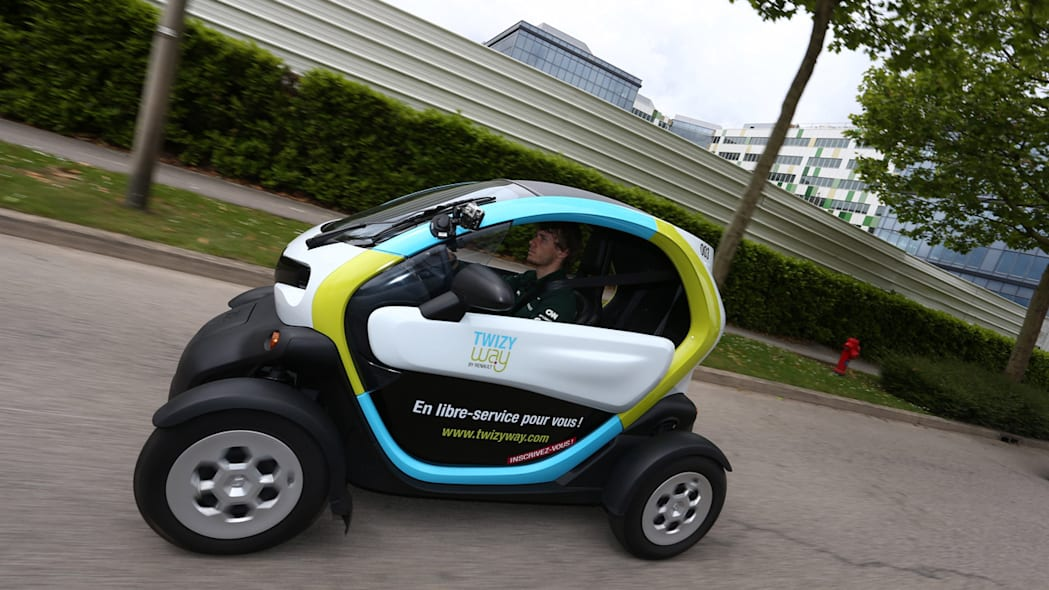 Charles Pic with the Twizy Way