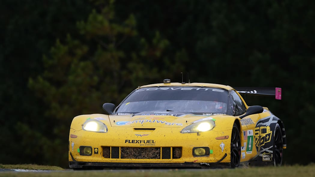 Petit Le Mans Auto Racing (Oliver Gavin, of England, drives his Chevrolet Corvette C6.R during the American Le Mans Series' Petit Le Mans auto race at Road Atlanta, Saturday, Oct. 19, 2013, in Braselt