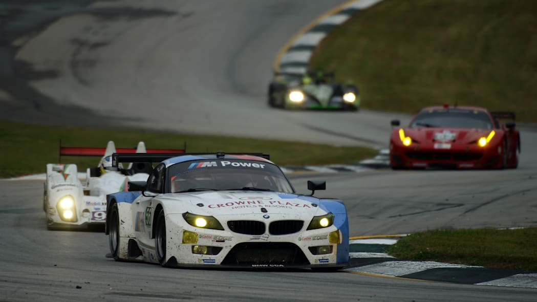 Petit Le Mans Auto Racing (Dirk Muller, of Germany, drives his BMW Team RLL Z4 GTE during the American Le Mans Series' Petit Le Mans auto race at Road Atlanta, Saturday, Oct. 19, 2013, in Braselton, G