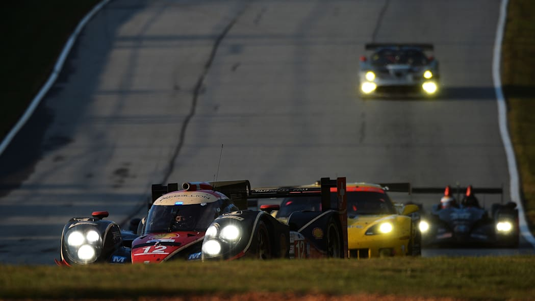 Petit Le Mans Auto Racing (Nick Heidfeld, of Germany, drives his Rebellion Racing Lola B12/60 Toyota during the American Le Mans Series' Petit Le Mans auto race at Road Atlanta, Saturday, Oct. 19, 201
