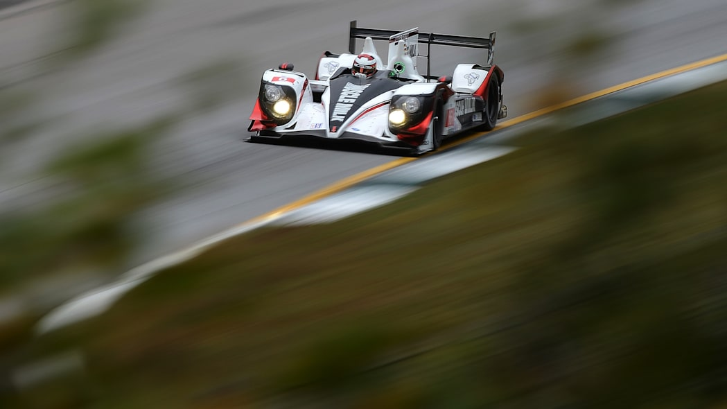 APTOPIX Petit Le Mans Auto Racing (Lucas Luhr, of Germany, drives the Pickett Racing HPD ARX-03c during practice for the American Le Mans Series' Petit Le Mans auto race at Road Atlanta, Friday, Oct.