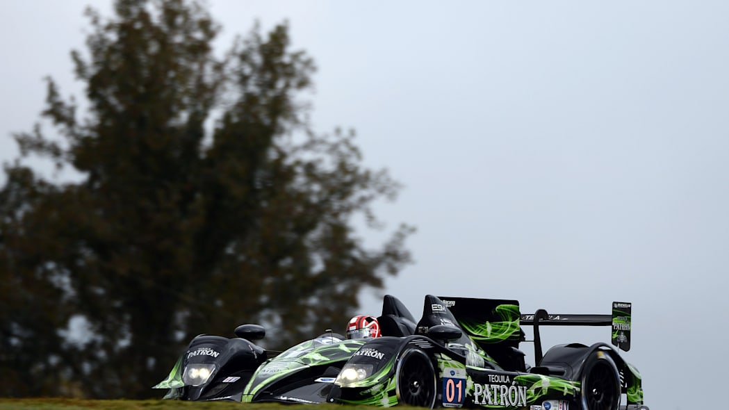 Petit Le Mans Auto Racing (Anthony Lazzaro drives the Extreme Speed Motorsports HPD ARX-03b HPD during practice for the American Le Mans Series' Petit Le Mans auto race at Road Atlanta, Friday, Oct. 1