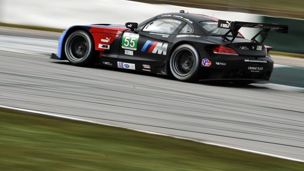 Petit Le Mans Auto Racing (Jorg Muller, of Germany, drives the BMW Team RLL Z4 GTE during practice for the American Le Mans Series' Petit Le Mans auto race at Road Atlanta, Friday, Oct. 18, 2013, in B
