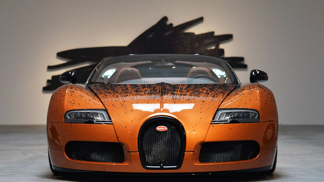 Bugatti Veyron Grand Sport Venet on display in Beverly Hills