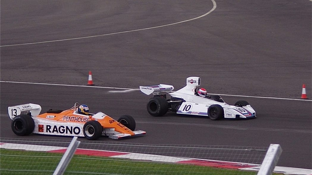 1974 Brabham BT42 and a 1973 Arrows A4
