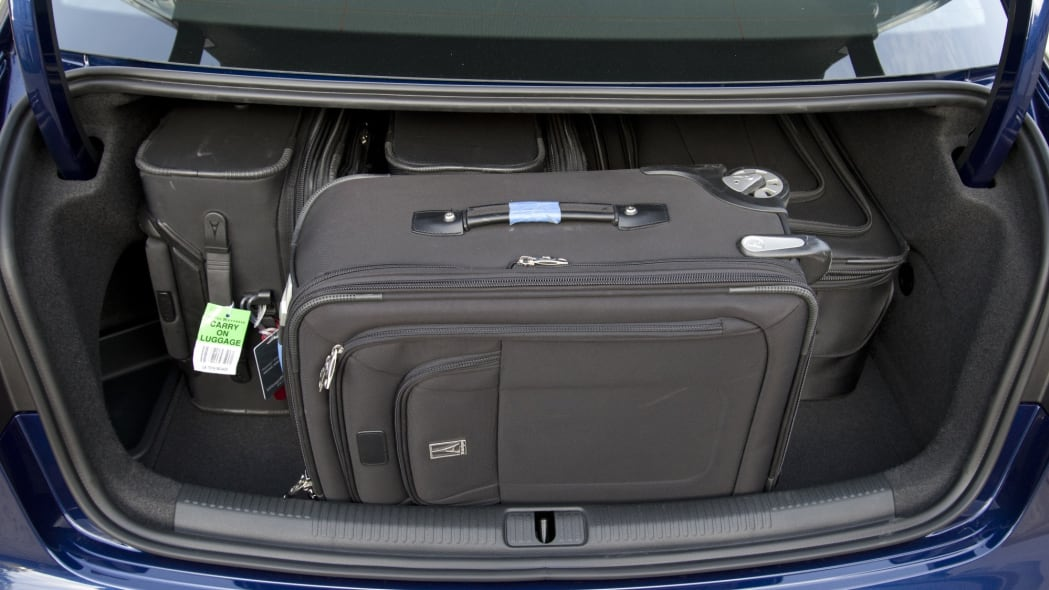 Trunk capacity of a 2015 Audi A3 Sedan 2.0T