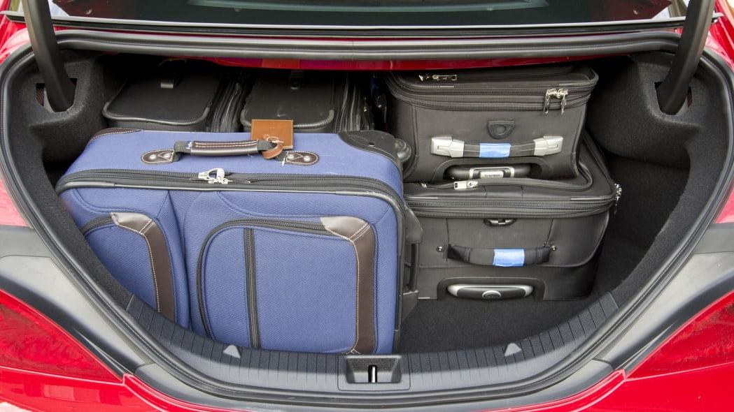 Trunk capacity of a 2014 Mercedes-Benz CLA250