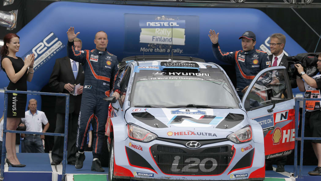 Hyundai Motorsport tests its performance at the WRC Rally Finland