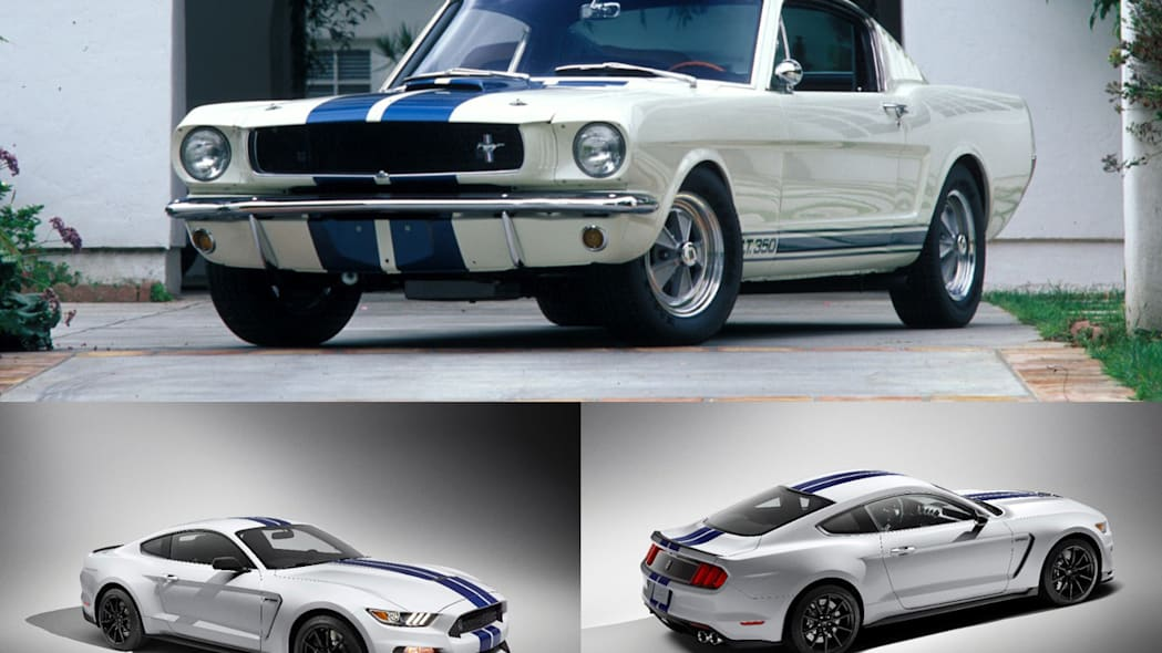 1965 and 2015 Ford Shelby GT350 Mustang